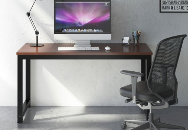 Image of computer on a table