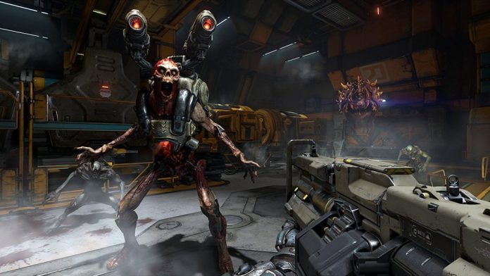 In-game screen image from Doom game