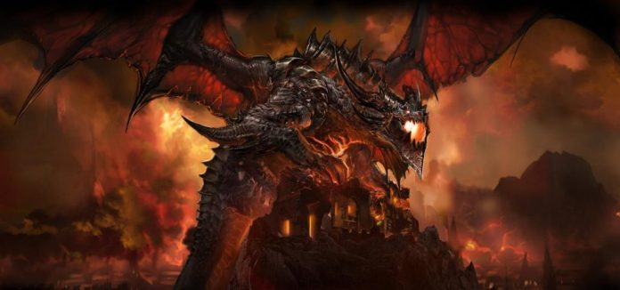 Image of Deathwing the destroyer from Warcraft lore
