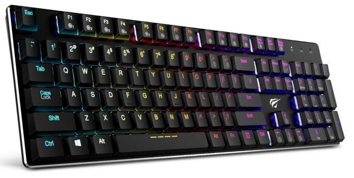 Image of low profile mechanical keyboard from Havit