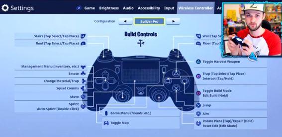 Ali-A Fortnite Build Controls