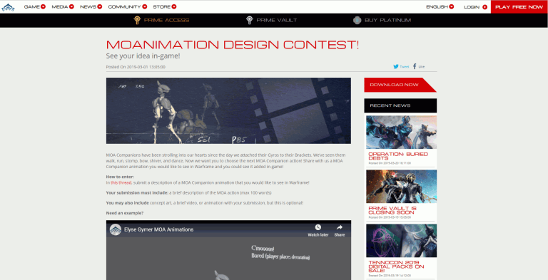 Moanimation Design Contest