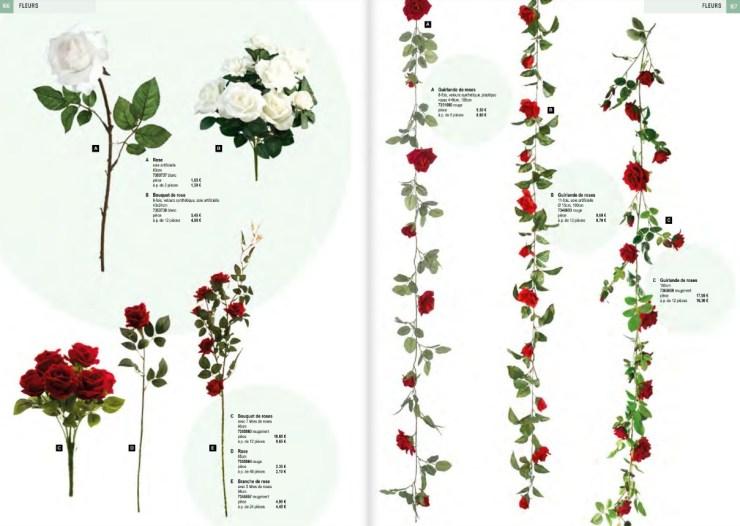 déco fleurs artificielles