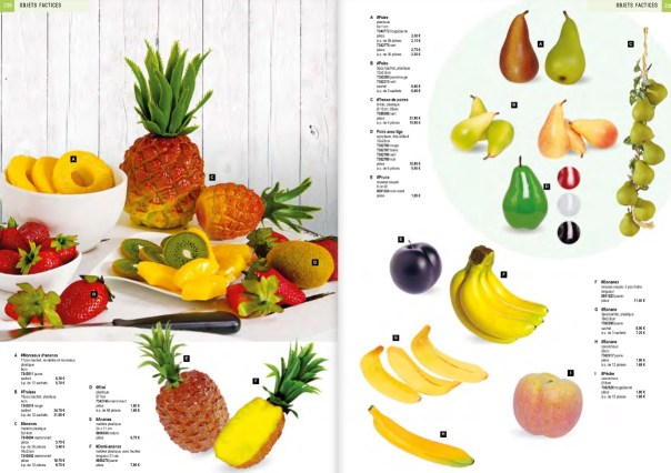 decoration aliment factice fruit factice