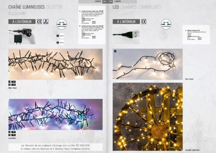 Pro-G Créa - Rideaux lumineux de Noël Guirlande lumineuse de Noël