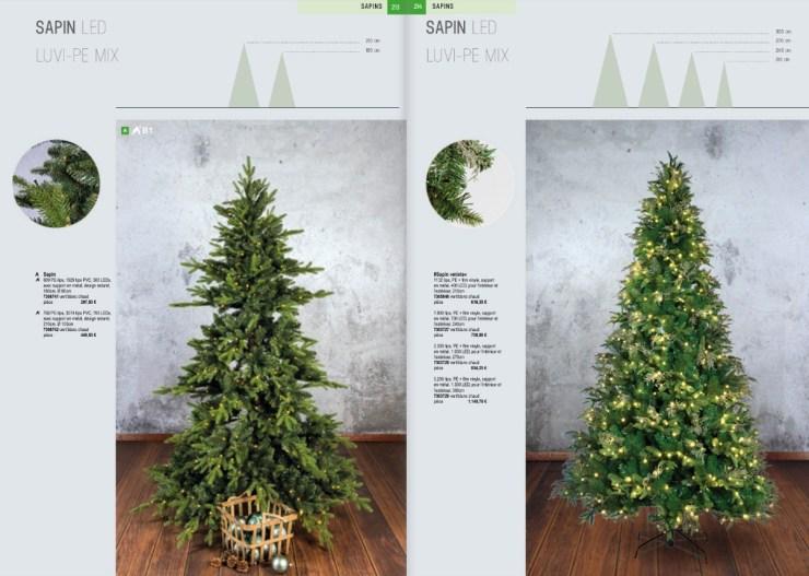 décoration Sapins artificiels de Noël