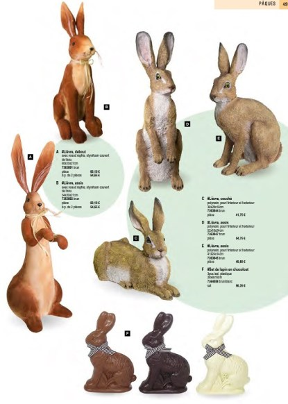 Décoration lapin de Pâques