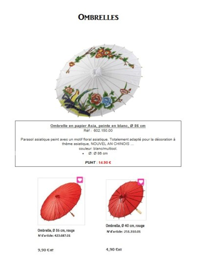 Pro-G Crea - Décoration ombrelle chine