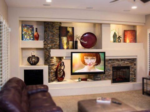 Una parete in cartongesso a prezzo contenuto in soggiorno oppure quando. Progettare Una Parete Attrezzata In Cartongesso Progettazione Casa