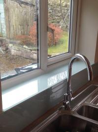 Lombardy Mist Glass Splashback, Upstands & Window Sill