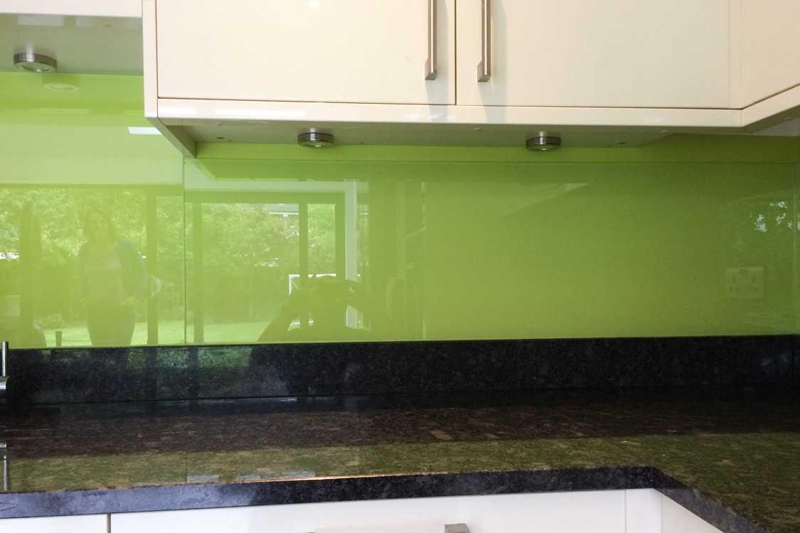 Dulux Luscious Lime Glass Splashback Kitchen Pro Glass 4