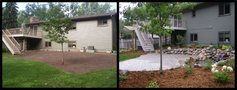 Before and after landscape