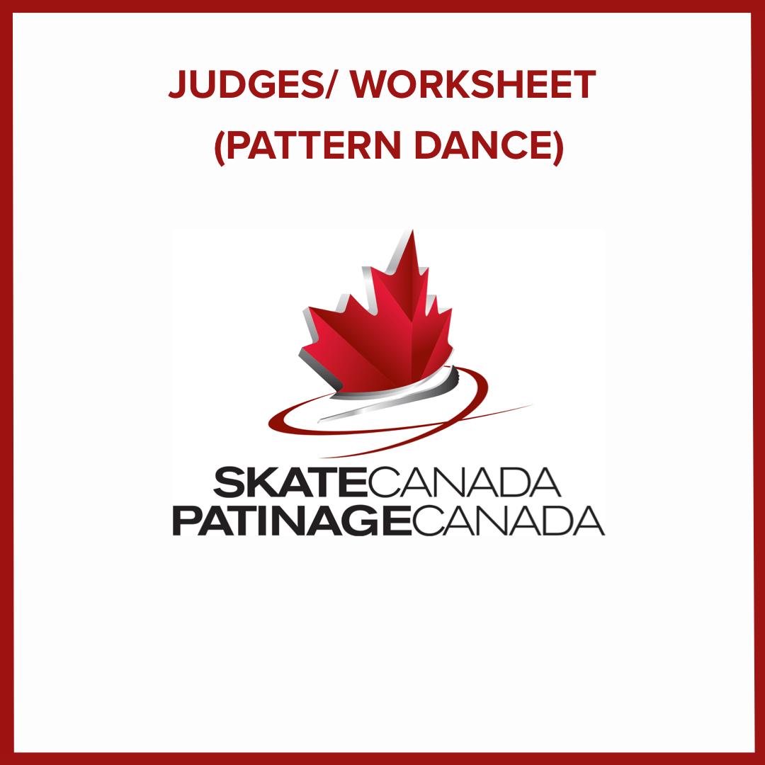 Judges Worksheet Pattern Dance English Materials