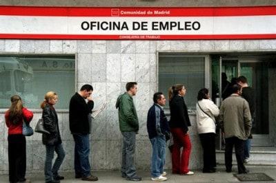 cola de desempleados