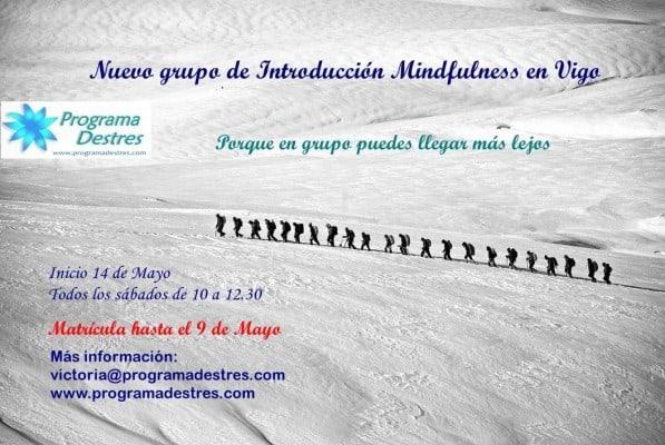 grupo mindfulness en mayo en vigo