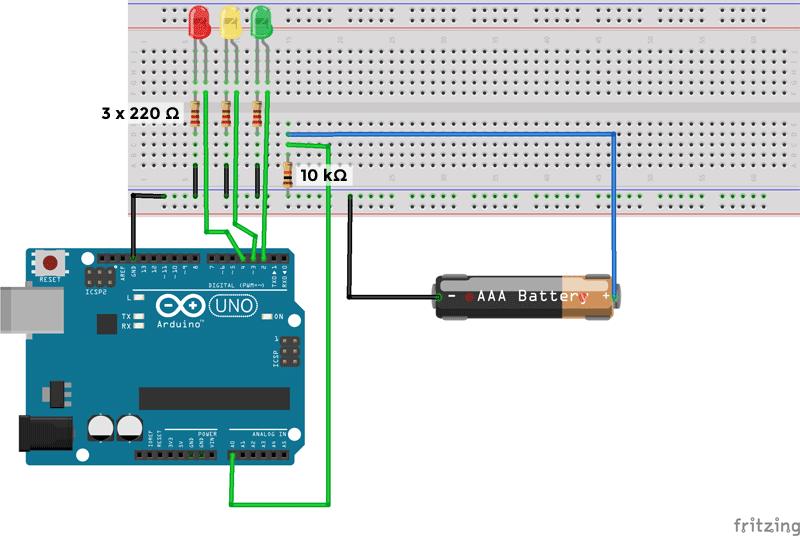 Circuito medidor carga bateria