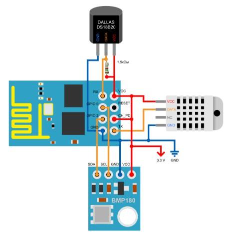 sensores esp8266