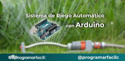 sistema riego automático con arduino