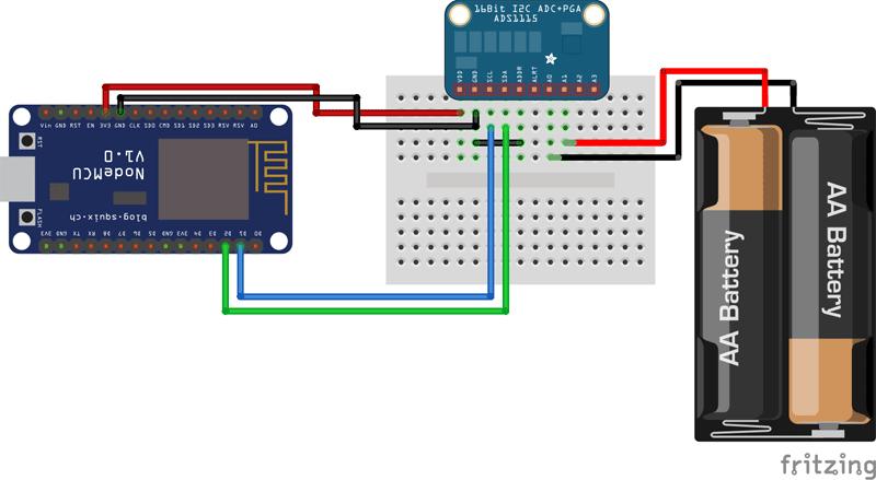 ads1115 NodeMCU ESP8266 diferencial