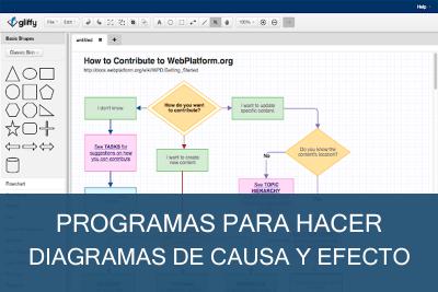 Programas para hacer Diagramas de Causa y Efecto Gratis