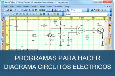 Programas para hacer Diagramas de Circuitos Eléctricos Gratis