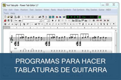 Programas para hacer tablaturas de guitarras