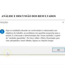 Formatar Análise dos Resultados TCC