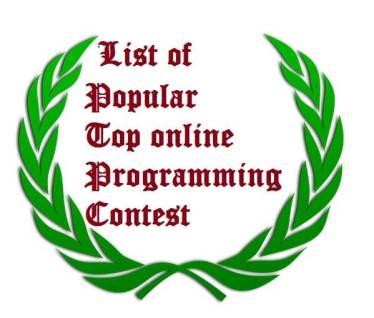 List of Popular Top 15 online Programming Contest