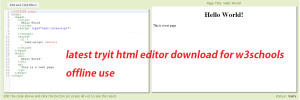 latest tryit html editor download for w3schools offline use