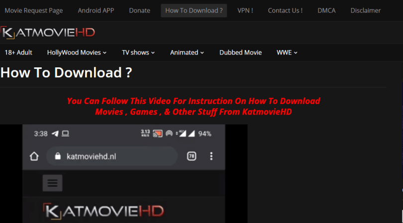 How to download movies from the KatmovieHD website?