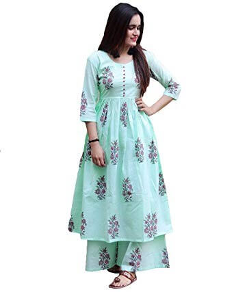 Printed kurti with pallazos