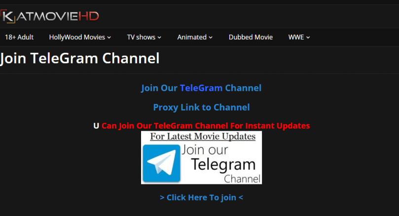Telegram App group KatmovieHD 2020
