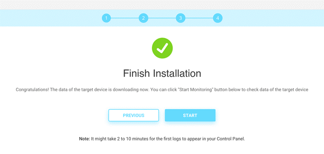 3. Finish Installation: