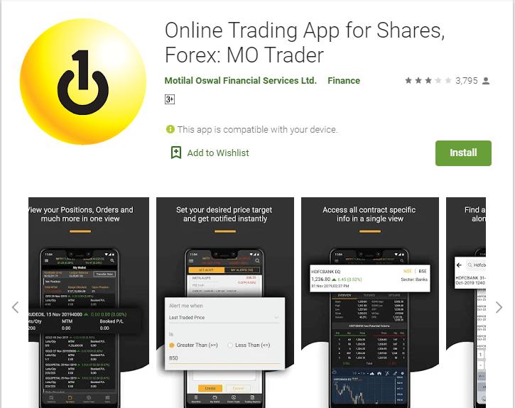 5. Motilal Oswal Trading App