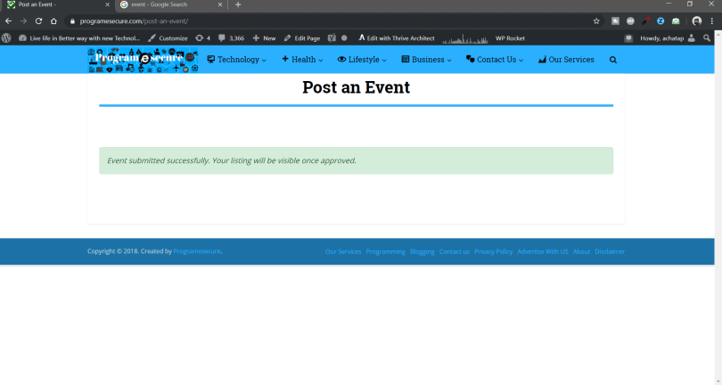 WP Event Manager: Complete Guide and how to use it step 5