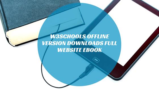 W3schools offline version downloads full website eBook