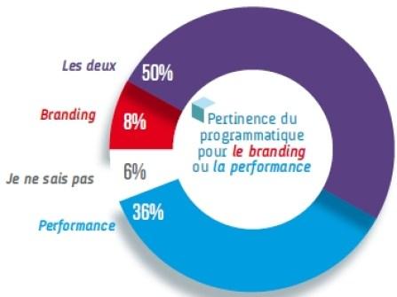 Le programmatique a destination des campagnes performances ou branding le choix des annonceurs - Barometre EBG