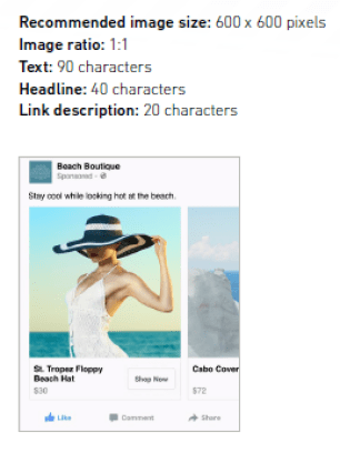 Dynamic creative banner for Facebook Retargeting - Programmatic
