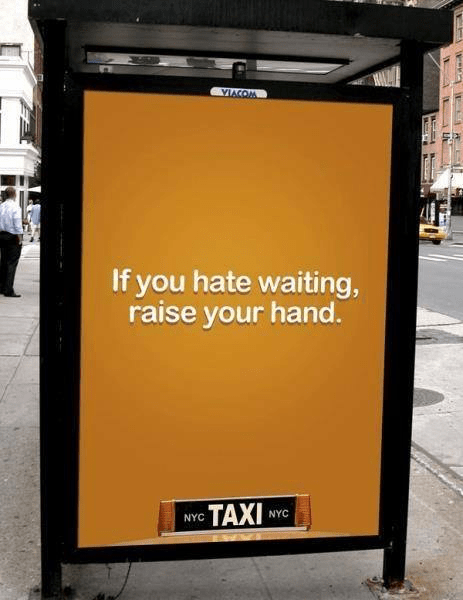 Taxi New York hate waiting - Programmatique