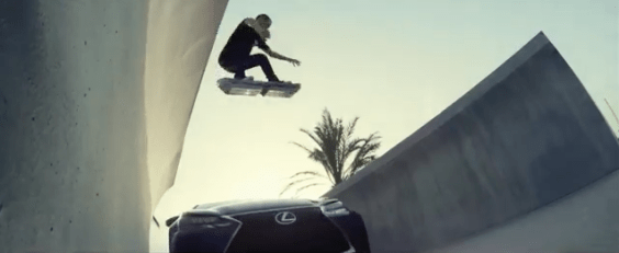 HOverboard Lexus Cannes Lions gold cyber