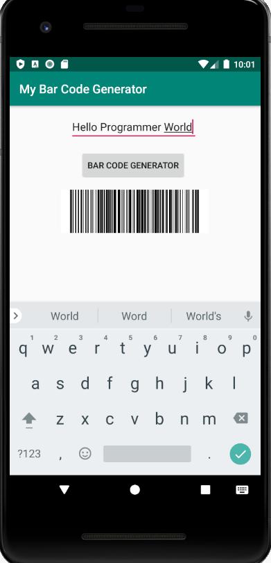 Hello Programmer World Bar Code