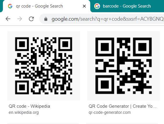 Sample QR Code from Google