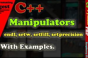 C++ Manipulators