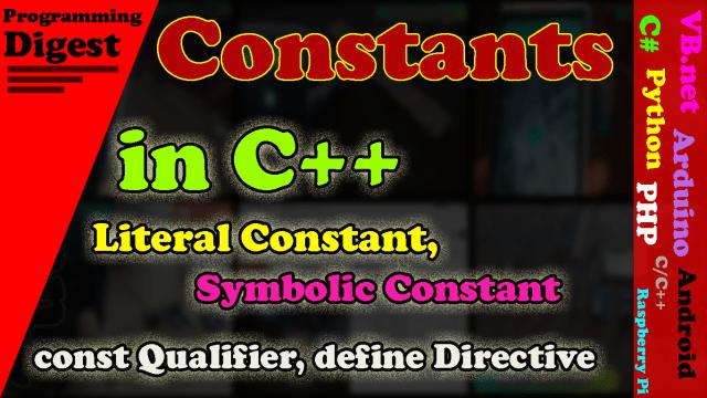 Constants in C++