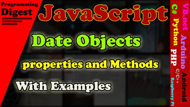 Date objects in javascript