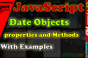 Date objects in javascript