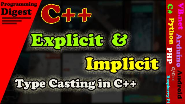 C++ type casting