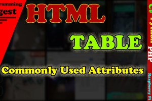 html table code and their commonly used attributes
