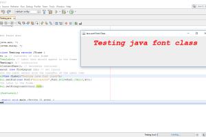 Java font class