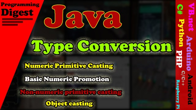 Java Type conversion